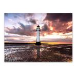 Perch Rock Lighthouse Wall Art Print