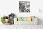 Cherry Blossom Wall Art Print on the wall
