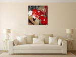 China Red I Wall Art Print on the wall
