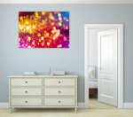Pink Gold Lights Wall Art Print on the wall