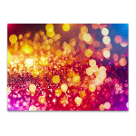 Pink Gold Lights Wall Art Print