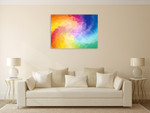 Triangular Colorful Wall Art Print on the wall