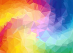 Triangular Colorful Wall Art Print