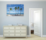 Beach Palm Trees Wall Art Print on the wall