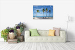 Beach Palm Trees Wall Art Print on the wall