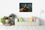 Eiffel Tower at Night Wall Art Print on the wall