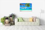 Hammock Palm Tree Wall Art Print on the wall