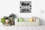 Palm Trees Serenity Wall Art Print on the wall