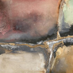 Gilded Crevice I Wall Art Print