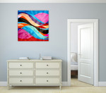 Colorful Waves Wall Art Print on the wall