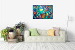 Cubism Abstract Wall Art Print on the wall
