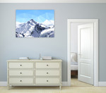 Faceted Snowy Peak Wall Art Print on the wall