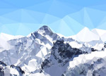 Faceted Snowy Peak Wall Art Print