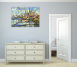 The Port of Seattle Wall Art Print on the wall