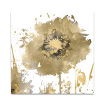 Flower Burst in Gold I Wall Art Print
