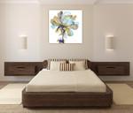 Fresh Bloom Aqua I Wall Art Print on the wall