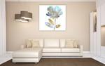 Fresh Bloom Aqua II Wall Art Print on the wall