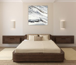 Gray Marble Wall Art Print  on the wall