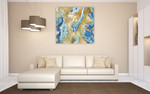 Onyx Aqua Wall Art Print on the wall