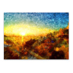 Sunset in Greece Wall Art Print