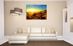 Sunset in Greece Wall Art Print on the wall