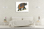 India Elephant I Wall Art Print on the wall