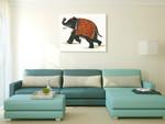 India Elephant II Wall Art Print on the wall
