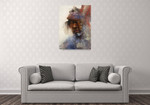 Native Indian Man Wall Art Print on the wall