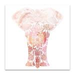 Pink Mandala Elephant Wall Art Print