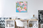Japan Cherry Blossom Wall Art Print on the wall