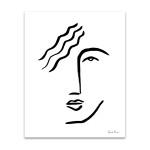 Faces I Line Wall Art Print
