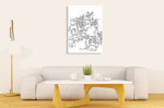 Streetscape Line Art Print on the wall