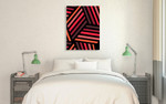 Red Monochrome Patterns IV Wall Art Print on the wall