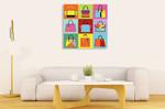 Fashion Handbag Wall Art Print on the wall