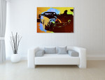 Ferrari Race Car Wall Art Print on the wall