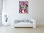 Imperial Dog Wall Art Print on the wall