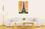 Eiffel Tower Paris Wall Art Print on the wall