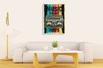 Party Music Wall Art Print on the wall