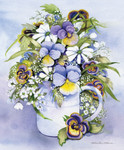 Purple Pansy Wall Art Print