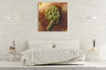 The Artichoke Fruit Wall Art Print on the wall