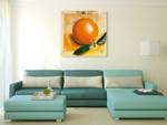 The Orange Fruit Wall Art Print on the wall