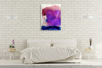 Misty Surreal Ink Flow I Wall Art Print on the wall