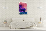Misty Surreal Ink Flow II Wall Art Print on the wall