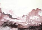 Pink Blush Ink Flow Wall Art Print