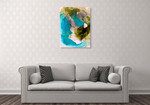 Translucent Ink Flow VII Wall Art Print on the wall
