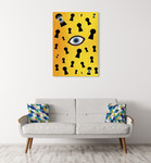 Eyes Are Watching Wall Art Print  on the wall
