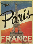 Vintage Paris Eiffel Tower Wall Art Print