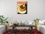 Espresso Coffee Wall Art Print on the wall