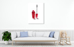Beauty Mascara Wall Art Print on the wall