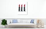 Beauty Lipsticks Wall Art Print on the wall
